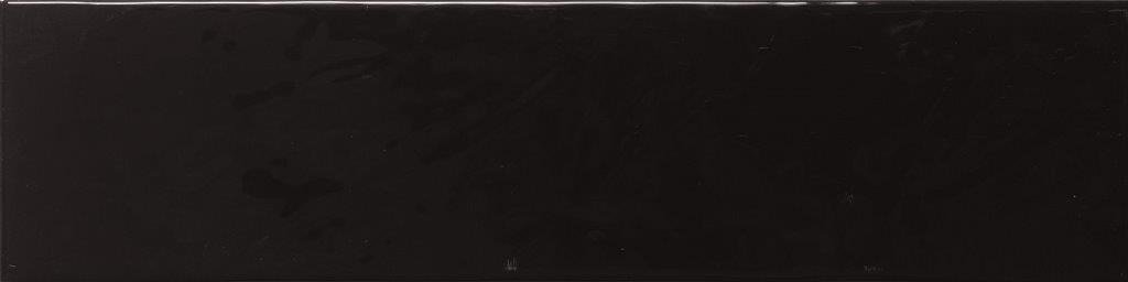 CERAMIC WALL TILE 10X40 PURITY BLACK GLOSSY-DK (THICKNESS 9 MM) - ECE