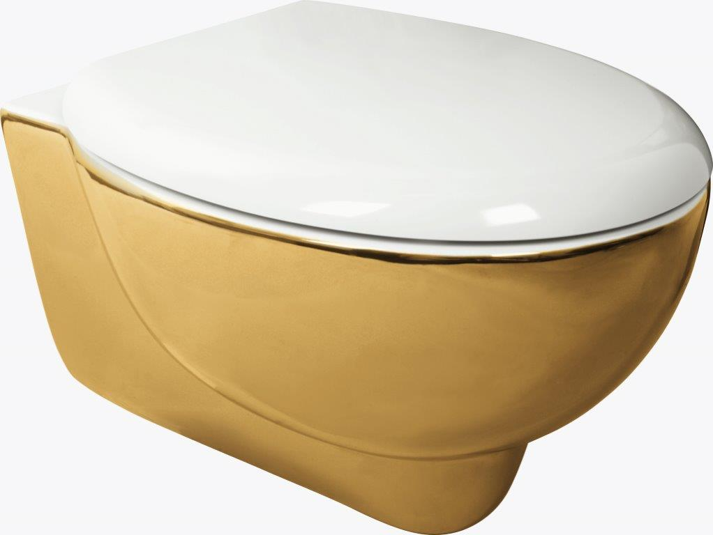 SOFT WC+TAPA 310X530X385 WC Y TAPA BICOLOR GOLD - IVT