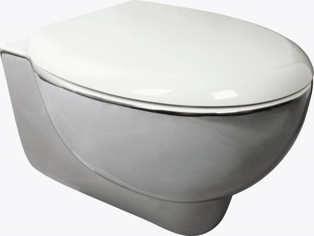 SOFT WC+COVER 310X530X385 WC Y COVER TWO-COLOUR SILVER - IVT