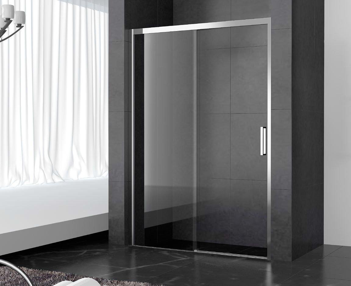 Mampara ducha berlin 1100 mm frontal fijo puerta transparente inb - Azulejos onuba ...