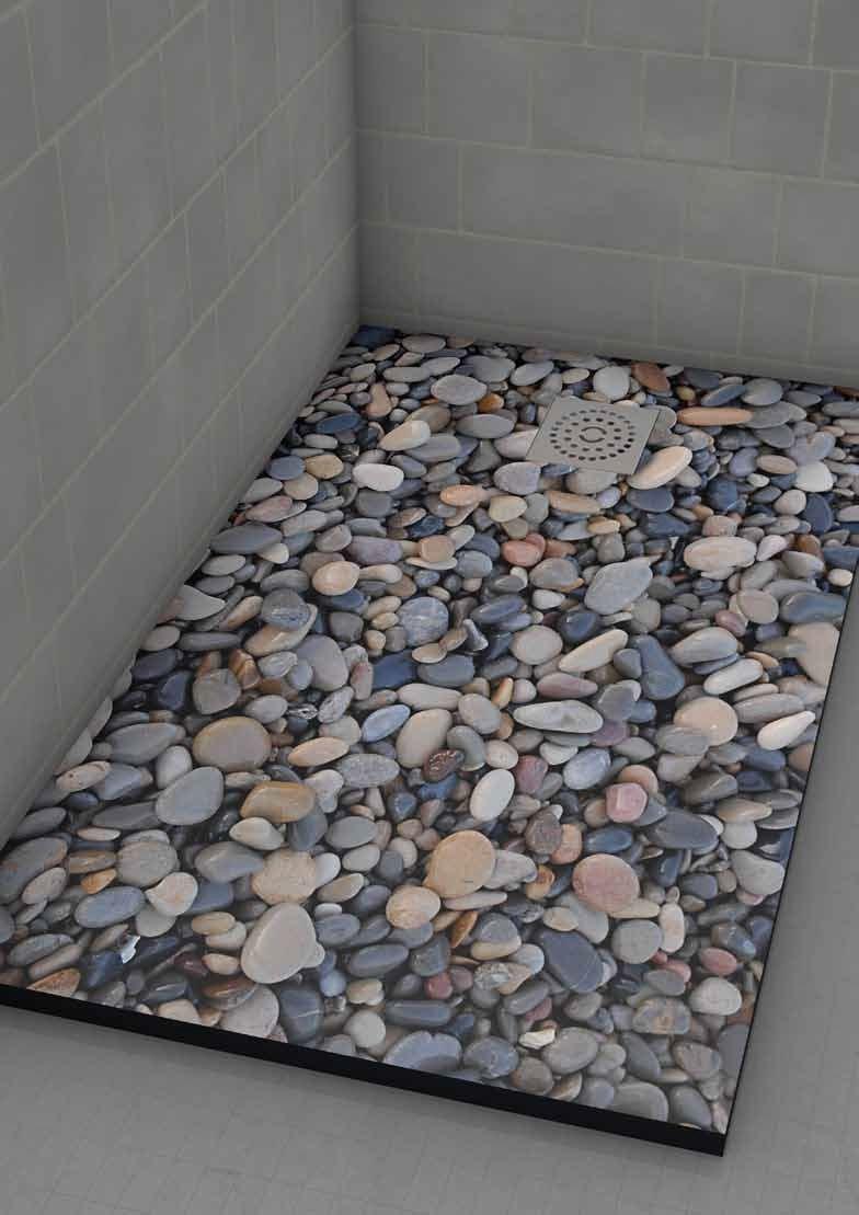 Plato ducha 75x110 imagine piedras peque as - Suelos de ducha antideslizantes ...