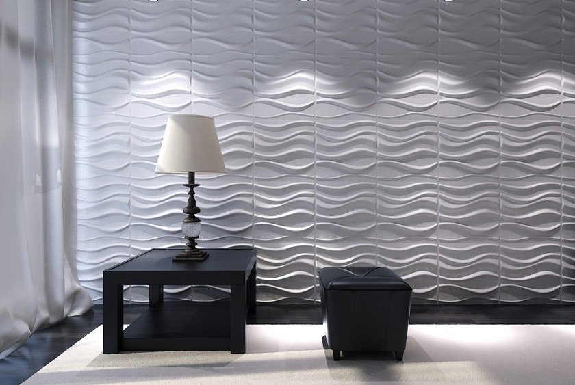 PANEL DECORATIVO 3D 50X50 LAKE (CAJA = 12 LAMINAS = 3 M2) (Espesor 1,5 mm) - DCO