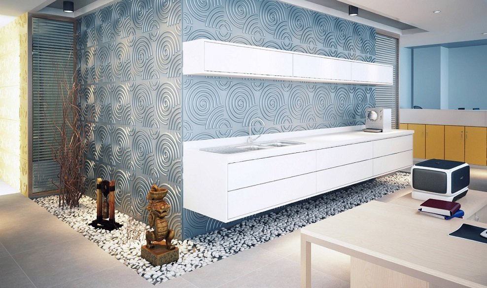 PANEL DECORATIVO 3D 50X50 RIPPLE (CAJA = 12 LAMINAS = 3 M2) (Espesor 1,5 mm) - DCO