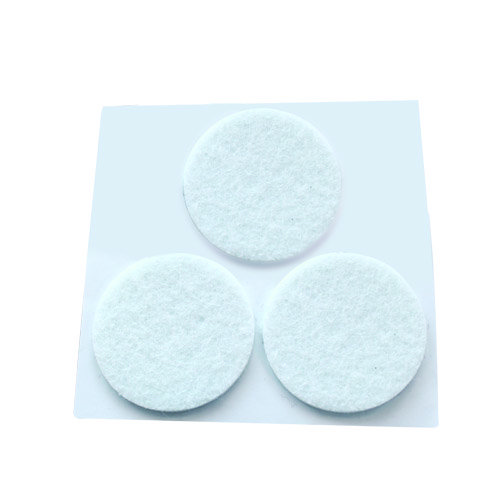 Pack 3 fieltros adhesivos redondos blanco 42mm gsc for Azulejos adhesivos baratos