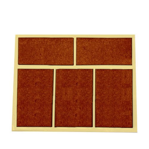 Pack 5 fieltros adhesivos cuadrados marron 28x44mm gsc for Azulejos adhesivos baratos