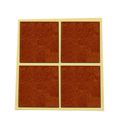 Pack 4 fieltros adhesivos cuadrados marron 44x38mm gsc for Azulejos adhesivos baratos