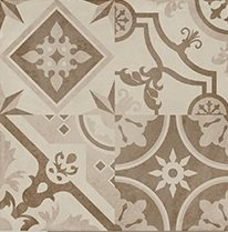 PAVIMENTO 80X80 PORCELANICO RECTIFICADO PATCHWORK DECOR COTTO-BEIGE MATE (Espesor 11 mm) - LMC