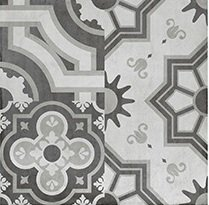 PAVIMENTO 80X80 PORCELANICO RECTIFICADO PATCHWORK DECOR GRAFITO-GRIS MATE (Espesor 11 mm) - LMC
