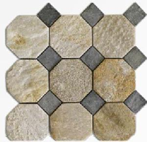 OFFER MOSAICS ON MESHES NATURAL STONE.